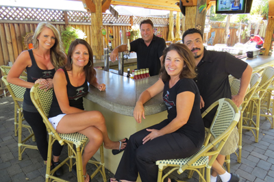 From left to right, Kristen Levario, Shari Shepard, Dan Creighton, Deb Creighton and chef Robert Jiminez