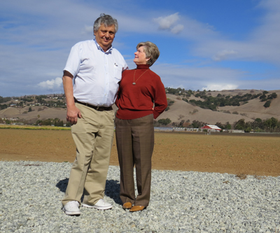 Photos by Marty Cheek The 2014 Leadership Excellence Award goes to George Chiala, seen above with his wife Alice in front of their farm fields. Chiala helped build a hospital in Morgan Hill in 1989, and was instrumental in getting the soccer fields on Condit Road developed.