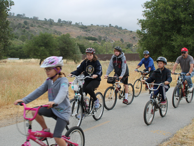 Charter School students on their way to school during bike to school day May 21. Photo by Jasmine Acuna