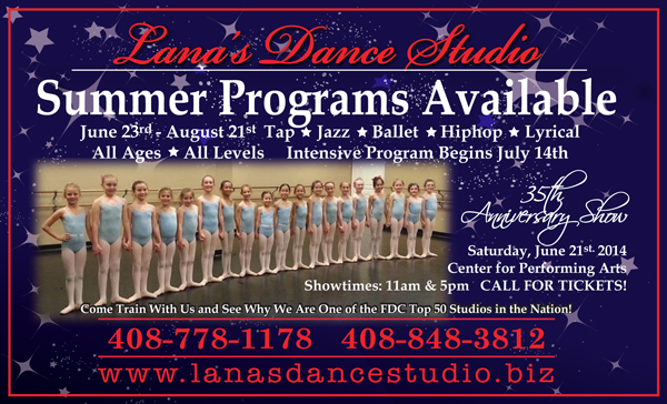 Lana's Dance Studio ad in the May 14, 2014 issue of Morgan Hill Life