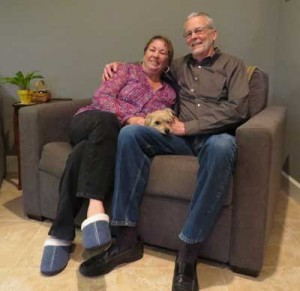 Photo by Marty Cheek Dana Ditmore, right, with his wife Elaine relax in their Morgan Hill home. Ditmore was recently honored with the LEAD Award.