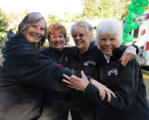 Photos by Marty Cheek  Morgan Hill residents from left, Trudy Parks, and 'kitchen ladies' Vivian Goforth, Margaret Bianucci and Mary Malech have volunteered in the search for missing Sierra LaMar for three years. Organizers have suspended the search for the Sobrato High School student.