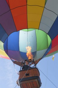 A visitor rides a hot air balloon during last year's Wings of History open house at the San Martin Airport. Families who want a fun and free adventure should visit the San Martin Airport Saturday May 30 for the annual open house. Hot air balloon and airplane rides are available for children. Morgan Hill Life file photo