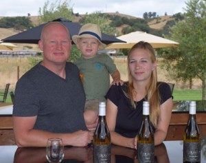 Photo by Robert Airoldi  Todd, Jack and Kim Engelhardt at their Lion Ranch Winery.