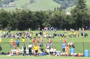 Photo courtesy MHYSA Hundreds of soccer players enjoy the Outdoor Sports Center during a recent tournament.