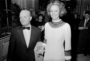 Truman Capote and Katherine Graham at 1966 Black and White Ball.