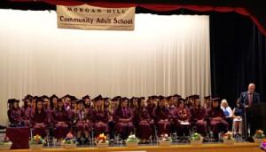 2016 Morgan Hill Community Adult School class at June 9 graduation Photo courtesy MHUSD