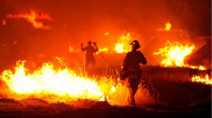 AP Photo of California fire