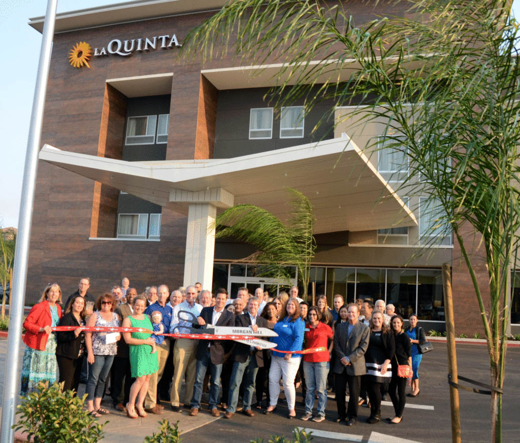 ribbon cutting la quinta inn suites morgan hill life. Black Bedroom Furniture Sets. Home Design Ideas