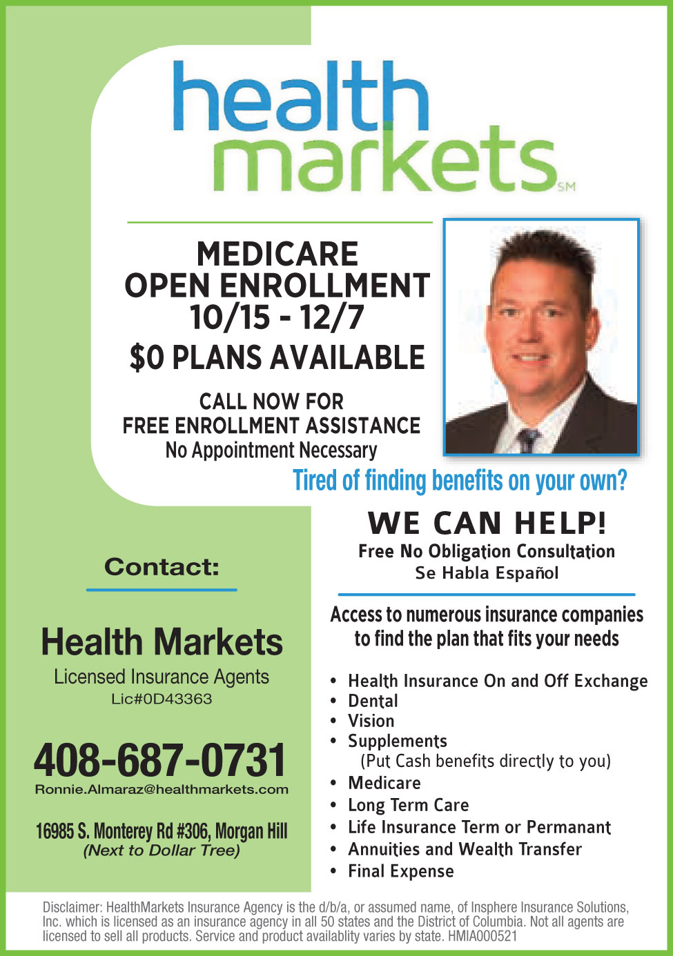 Health Markets - Licensed Insurance Agents - Morgan Hill Life