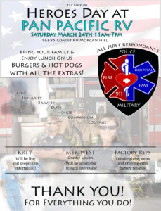 HEROES DAY AT PAN PACIFIC RV @ PAN PACIFIC RV | Morgan Hill | California | United States