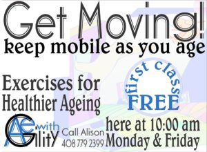 Get Moving Exercise Class for Healthier Aging @ Machado School | Morgan Hill | California | United States