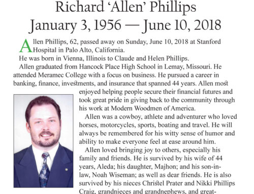 Celebrate Life – Richard 'Allen' Phillips – January 3, 1956 — June 10, 2018