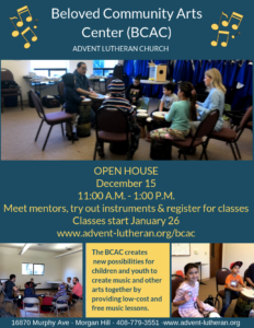 Beloved Community Arts Center (BCAC) @ Advent Lutheran Church | Morgan Hill | California | United States