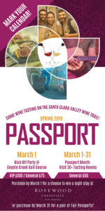 Spring Passport: 31 Days / 32 Tasting Rooms along the Santa Clara Valley Wine Trail @ Santa Clara Valley Wine Trail | San Martin | California | United States