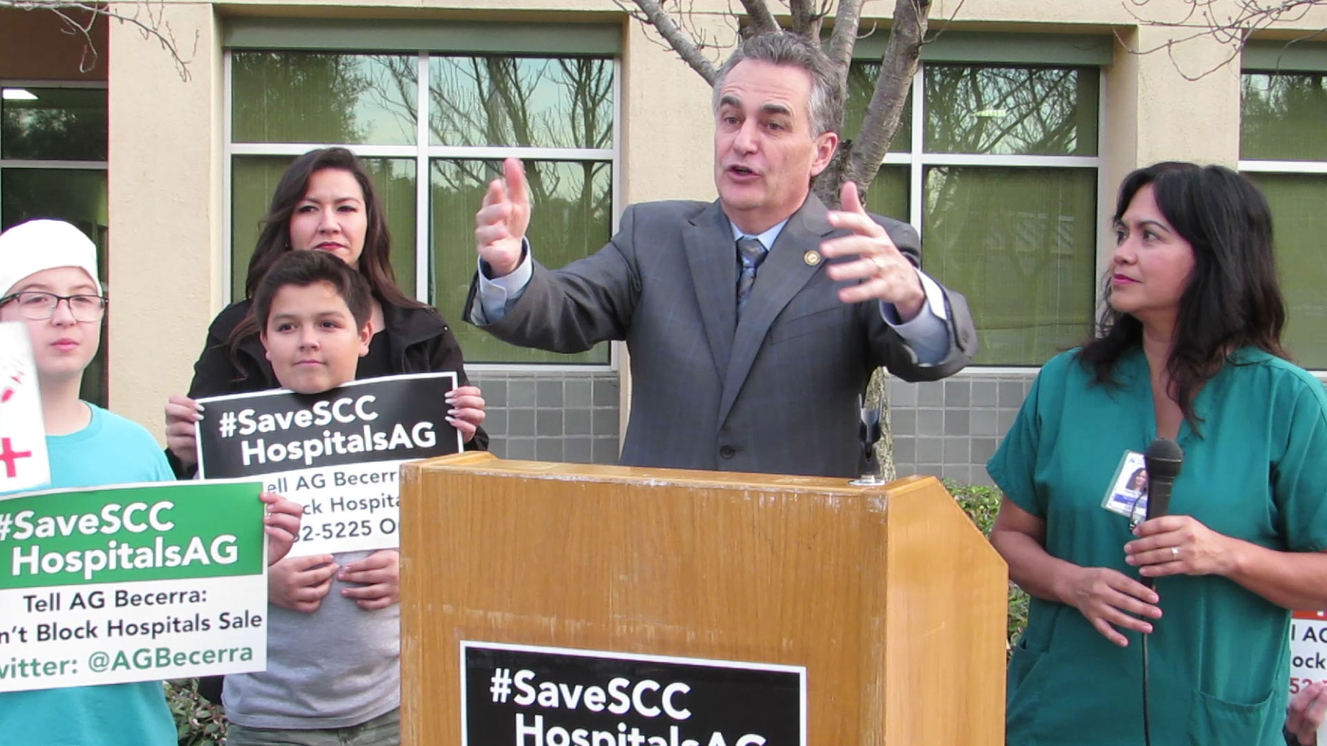 Main story: Locals worried about DOJ's attempt to block sale of hospitals