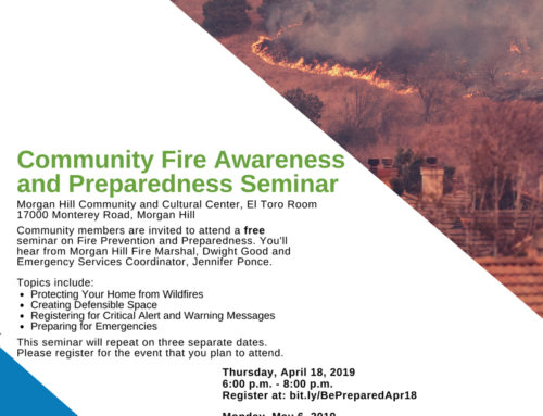 April 18, May 6, May 18: Community Fire Awareness and Safety Seminars
