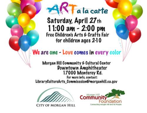 April 27: Free event — Art Ala Carte for Family Fun