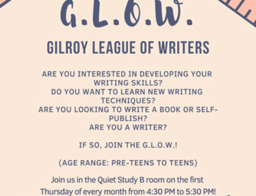Ongoing Event: Gilroy League of Writers for Pre-Teens and Teens