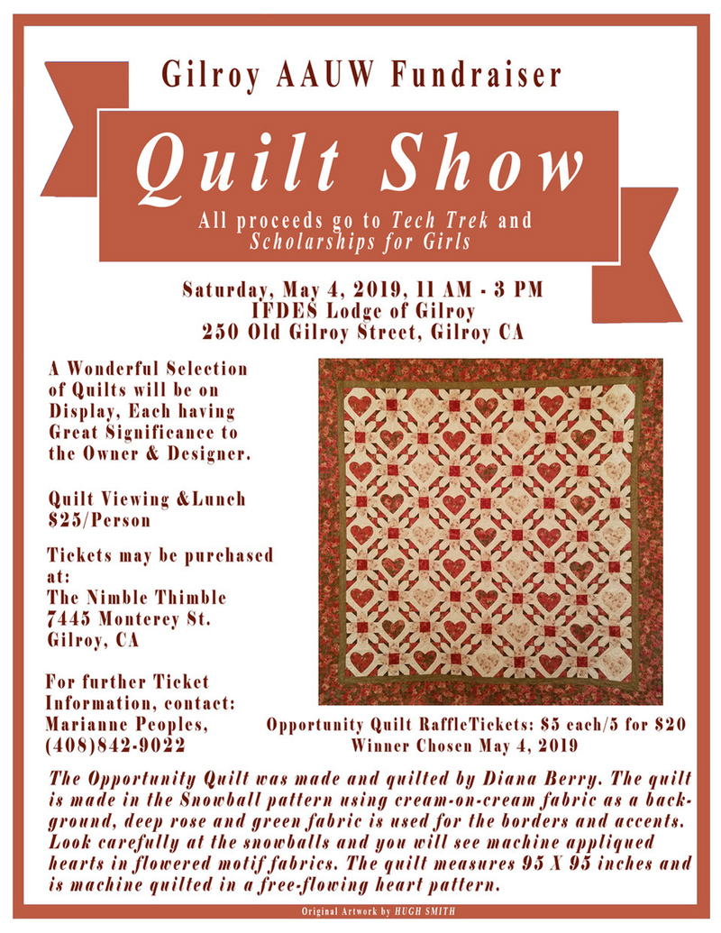 May 4: Gilroy AAUW Quilt Show for Scholarships for Girls – Morgan