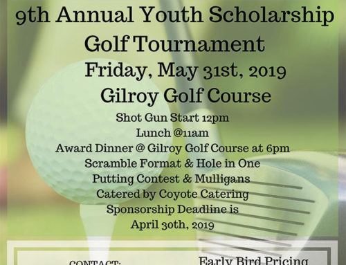 May 31: Golf Tournament for Youth Scholarships by Gilroy Sunrise Rotary