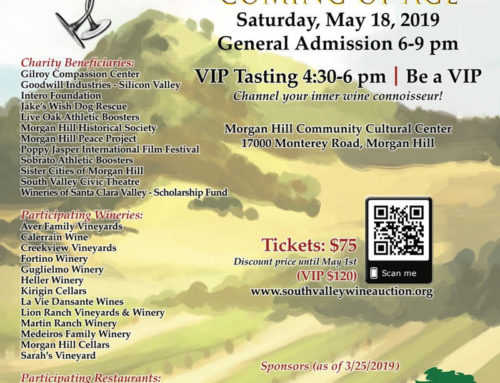 May 18: South Valley Wine Tasting & Charity Auction