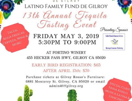 May 3: Tequila Tasting Event for Latino Family Fund