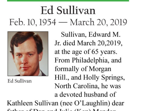 Celebrate Life: Ed Sullivan: Feb. 10, 1954 — March 20, 2019