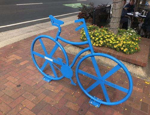 Downtown Morgan Hill by Jodi Hall: Leadership Morgan Hill's bike racks installed