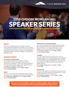 Choose Morgan Hill Speaker Series: Tourism @ Granada Theatre | Morgan Hill | California | United States