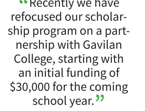 Edward Boss Prado Foundation begins scholarship program at Gav with $30k
