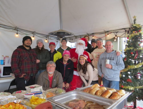 Rotarians give food, friendship to homeless on Christmas Day