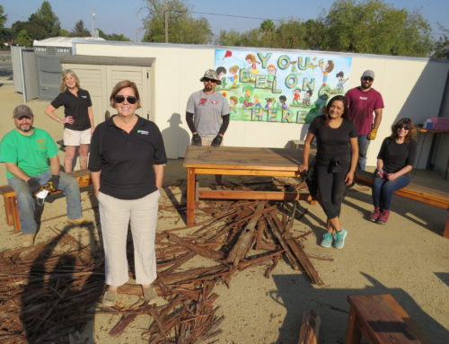 Main story: Leadership class builds children's area at Community Garden
