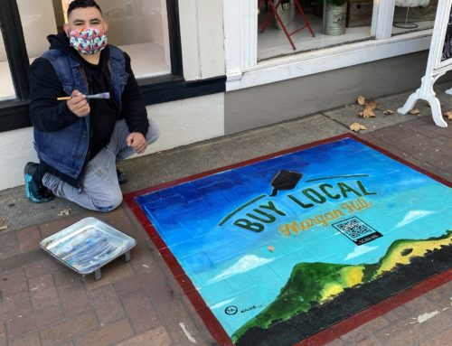 Downtown with Suman Ganapathy: Sidewalk art encourages locals to patronize local businesses