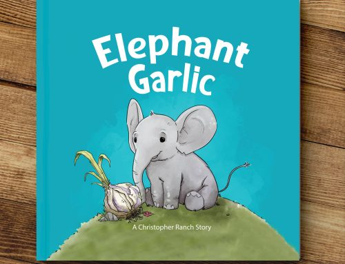 Garlic featured in children's book about an elephant searching for the herb